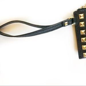 Michael Kors Bags - Michael Kors Black and Gold Studded Wristlet